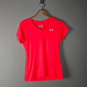 Under Armour Hot Pink Semi Fitted Athletic Shirt